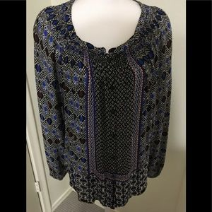 Lucky Brand Smocked Blouse